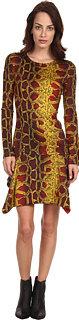 Just Cavalli Python Print Jersey Dress