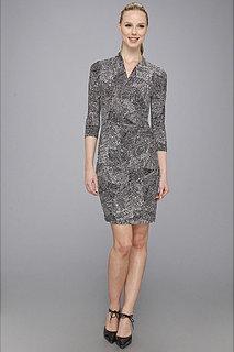 Kamalikulture 3/4 Sleeve Side Draped Dress