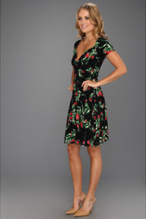 Kamalikulture Short Sleeve Sweetheart Flare Dress w/ Belt