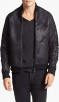 Kenneth Cole Collection Burnout Bomber Jacket X-Large