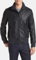 Kenneth Cole Collection Sweater Trim Bomber Jacket Small