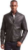 Kenneth Cole Reaction Perforated Pleather Jacket