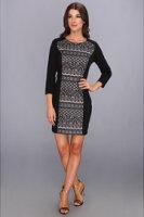 Kensie Contrast Bonded Lace Dress