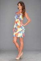 Kensie Painted Feathers Dress