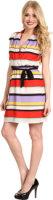 Kensie Striped Short Sleeve Dress