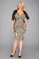 Kiyonna Stop and Stare Ruched Dress