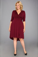 Kiyonna Winona Hi-Lo Wrap Dress