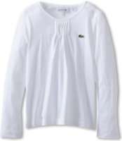 Lacoste Jersey T-Shirt With Pleated Detail