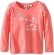 Lacoste L/S T-Shirt With Flocked Lacoste And Croc