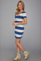Lacoste L VE S/S Rugby Stripe Dress