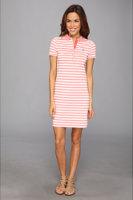 Lacoste Short Sleeve Stretch Pique Stripe Polo Dress