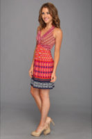 Laundry by Shelli Segal Twist-Front Halter Dress