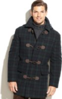 LAUREN Ralph Lauren Landau Toggle Blackwatch Plaid Wool-Blend Overcoat