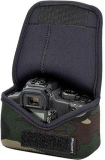 LensCoat Neoprene Body Bag Compact Designed for a Compact Camera Body Without Lens - Forest Green Woodland Camo