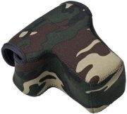 LensCoat Neoprene Body Bag with Lens Cover Designed for a Camera Body with Lens up to 4.5  - Forest Green Woodland Camo