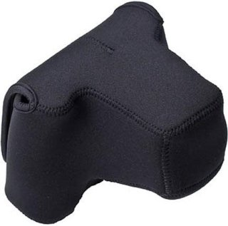 """LensCoat Neoprene Pro Body Bag with Lens Cover Designed for a Pro DSLR Camera Body with Lens up to 4.5"""" - Black"""