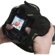 LensCoat Soft Neoprene BodyGuard Pro CB (Clear Back) for Pro SLR & Semi Pro SLR Cameras with Optional Grips Attached - Forest Green Woodland Camo
