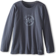 Life Is Good Crusher L/S Snowflake