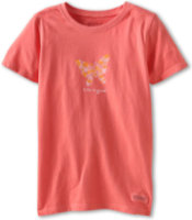 Life Is Good Crusher Tee Flower Butterfly