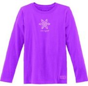 Life Is Good Crusher L/S Heart Snowflake