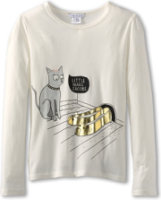 Little Marc Jacobs Jersey Printed Tee With Gold Studs
