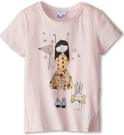 Little Marc Jacobs Ms Marc And Dog Print S/S Tee
