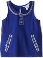 Little Marc Jacobs Printed Collar And Pocket Tank Top