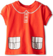 Little Marc Jacobs Printed Puff Sleeve Tee Shirt