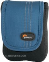 Lowepro Dublin 20 Camera Pouch for Compact Digital Camera/Camcorder Black/Arctic Blue