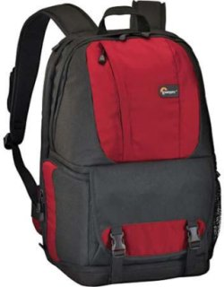 Lowepro Fastpack 250 Digital SLR & Widescreen Notebook Backpack Water Resistant & 180-Degree Access Panel Red