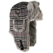 29075cfac64 Mad Bomber Wool Bomber with Grey Fur