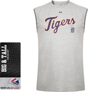 Majestic Detroit Tigers Big And Tall Sleeveless Muscle T