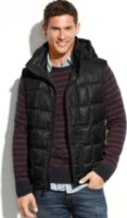 Marc New York Dublin Removable Hood Ultra Down Quilted Vest
