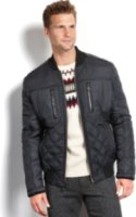 Marc New York Force Quilted Faux Leather Trim Bomber