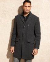 Marc New York Hoyt Herringbone Wool Top Coat