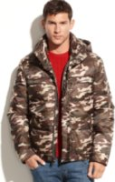 Marc New York Hunter Removable Hood Camo Bomber