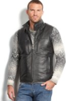 Marc New York Liberty Leather Quilted Vest