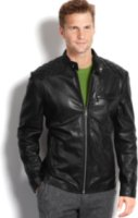 Marc New York Quincy Glove Leather Jacket with Quilted Patch