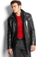 Marc New York Spruce Smooth Lamb Leather Car Coat