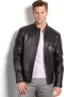 Marc New York Sutton Smooth Lamb Leather Moto Jacket