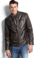 Marc New York Vine Lightweight Calf Leather Moto Jacket