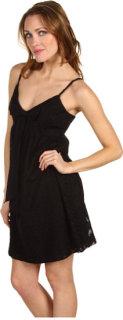 Badgley Mischka Mark James Babydoll Mini W/Bow Dress