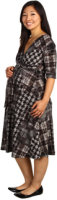 Maternal America Houndstooth Front Tie Dress