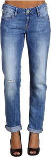 Mavi Jeans Emma Slim Boyfriend in Ripped Aquamarine Soft