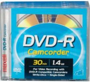 Maxell 8cm Write-Once DVD-R Removable Disc for DVD Camcorders 3 pack