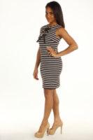 Michael Kors Lobamba Stripe Sleeveless Grommet Dress