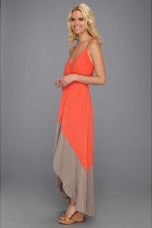 Michael Stars Alba Colorblock High Low Maxi Dress