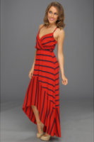 Michael Stars Alba Hi-Low Stripe Modal Jersey Maxi Dress