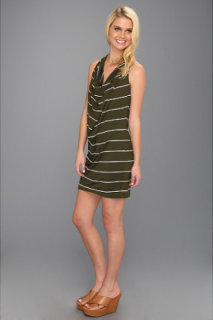 Michael Stars Anoinette Island Stripe Halter Mini Dress