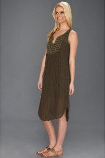 Michael Stars Cosette Textured Linen Crochet Dress
